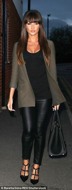 Stylish: The TOWIE star flaunted her sartorial chops in a sexy ensemble as she was joined by her pal Amber Dowding for the girls night out