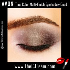 Avon True Color Multi-Finish Eyeshadow Quad. Avon. Complimentary shades, Avon True Color Eyeshadow Quad... Exquisite stay-true coordinated shades make every eye look effortless. Available in 13 shades. Regularly $8. Shop online with FREE shipping with any $40 online Avon purchase.  #Avon #CJTeam #Sale #TrueColor #Eyes #EyeShadow #Quad #C11 #Makeup #Cosmetics #NEW Shop Avon Cosmetics online @ www.TheCJTeam.com