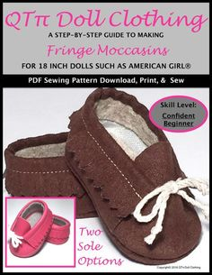 "FRINGE MOCCASINS 18"" DOLL SHOES"