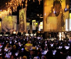 Love the use of large scale prints on sheer fabric for this fundraising event. Project by Melbourne companies Bravo Print and Gloss Creative.