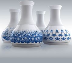 designed keeping boiling and serving in mind....We like the blue and white...