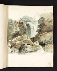 Joseph Mallord William Turner - The Waterfall at Aberdulais, 1795