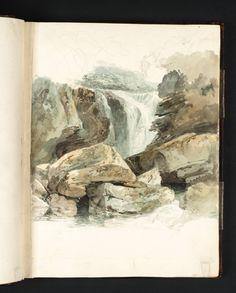 Joseph Mallord William Turner - The Waterfall at Aberdulais, 1795