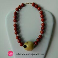 Otro espectacular diseño #Coral y #Tagua un toque de elegancia para tu outfit!   #adbeadstrends #beads #trends #fashionnecklace #necklace #panama #pty #moda #style #musthave #handmade #hechoamano ❤