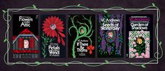 The five books in the Dollanganger series, which made V.C. Andrews into an unlikely literary star beginning with Flowers in the Attic.