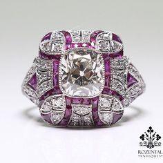 Antique Art Deco Platinum Diamond