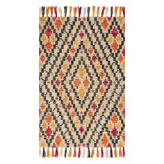 Loloi Farrah FH-05 Indoor Area Rug | Hayneedle Rug Company, Southwestern Style, Rug Hooking, Pattern Fashion, Wool Rug, Indoor, Area Rugs, Texture, Crafts