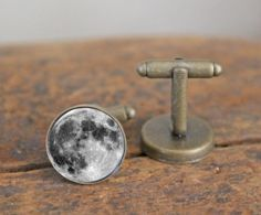 Moon cuff links , mens cuff links , mens accessories