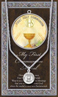 Communion Medal w/Stainless Steel Chain
