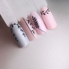 Feather Nail Designs, Feather Nails, Nail Art Designs, Acrylic Nail Designs, Nail Art Hacks, Gel Nail Art, Nail Art Diy, Gel Nails, Acryl Nails