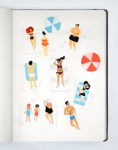 uploaded-Beach bummin'. [[MORE]] — Original artwork by Robyn. Design a summer invitation on paperlesspost.com.
