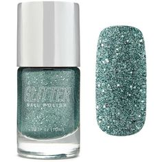 Forever21 Teal Glitter Nail Polish (180 DOP) ❤ liked on Polyvore featuring beauty products, nail care, nail polish, teal, forever 21 nail polish and forever 21