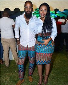 Last 2019 Ankara Styles for Couples . Ankara styles for couples are a standout amongst the most idea Couples African Outfits, African Dresses For Women, African Print Dresses, African Attire, African Fashion Dresses, African Wear, African Prints, African Women, Ghanaian Fashion