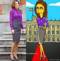 http://www.fashionassistance.net/2014/09/la-reina-letizia-icono-de-moda-al.html Fashion Assistance: La Reina Letizia icono de moda al estilo Simpson
