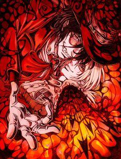 this art is amazing Alucard and Seras Victoria Manga Art, Anime Manga, Anime Art, Hellsing Ultimate Anime, Seras Victoria, Hellsing Alucard, Real Vampires, The Blues Brothers, Animation