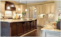 Kitchen Tile Backsplash Ideas With Cream Cabinets | Onlive Gallery