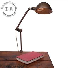 Something like this for the Basement bookshelf over the bed. Vintage Industrial Brass Desk Telescoping Clamp Lamp Work Light OC O. Masculine Office, Desk Lamp, Table Lamp, Clamp Lamp, Cabin Lighting, Work Lights, Architectural Salvage, Working Area, Vintage Industrial