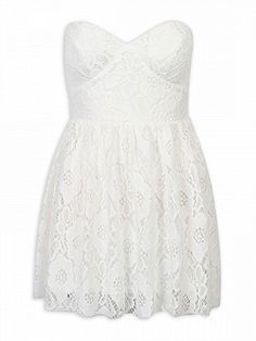 Shop White Strapless Sweetheart Crochet Lace Dress from choies.com .Free shipping Worldwide.$17.9