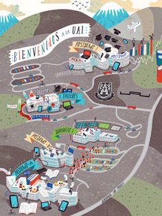 Patricio Otniel - Campus map for Universidad Adolfo Ibañez - Santiago, Chile