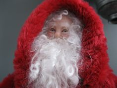 Laurie's one of a kind Santa dolls  available to purchase