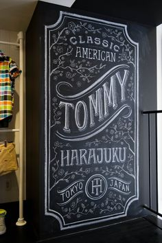 Tanamachi Studio - Tommy Hilfiger Harajuku - this is what I want the holiday table sign to look like