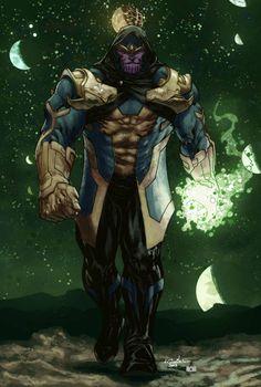 Thanos (Kris Anka design Biram Ba colors) - by SpiderGuile | #comics #marvel
