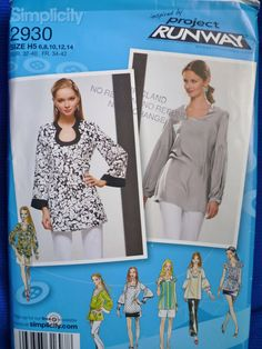 simplicity patterns tunics | Tunic Pattern Unique Sleeve Design SImplicity 2930 Size 6 to 14 ...
