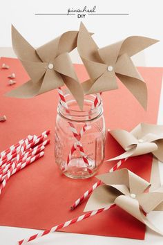 Paper Straw Pinwheels at Style Me Pretty