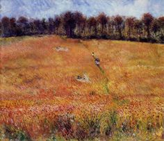 Pierre-Auguste Renoir  [French Impressionist Painter, 1841-1919]  Path through the High Grass  circa 1876  oil on canvas  Private collection