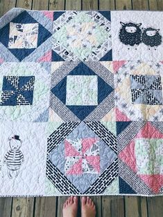 Modern Sewcialites Blog Hop – New Beginnings Quilt (quilt reveal) + How to square up a large block (video tutorial)