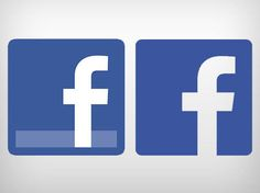 Logotipo novo e antigo do Facebook