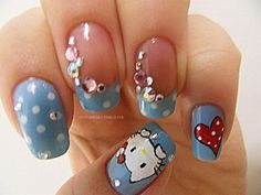 There are already enthralling, inspiring and awesome images tagged with hello kitty Fancy Nails, Cute Nails, Pretty Nails, Hello Kitty Nails, Creative Nails, Favim, Holiday Nails, Beauty Nails, Getting Old