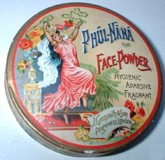 Vintage Face Powder Tin