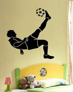 Soccer Football Player Boy Room Mural Wall Vinyl Decal