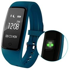 Sports Smart Wristband Heart Rate Monitor Bracelet Bluetooth Fitness Wristband Precision Dynamic Heart Rate Active Sports Monitoring content display(Blue) *** Click on the image for additional details. (This is an affiliate link) #WellnessRelaxation
