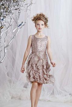 Biscotti Girls Tween Grey Twirly Skirt Lace Dress - Special ...