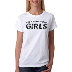 Who Runs The World? Women's White T-Shirt NEW Sizes S-XL Comfortable Kawaii Punk Women T Shirt Sexy Black Style Solid Color #Free runs http://www.ku-ki-shop.com/shop/free-runs/who-runs-the-world-women-s-white-t-shirt-new-sizes-s-xl-comfortable-kawaii-punk-women-t-shirt-sexy-black-style-solid-color/