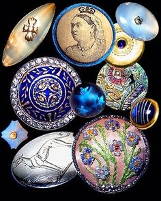 Antique english buttons