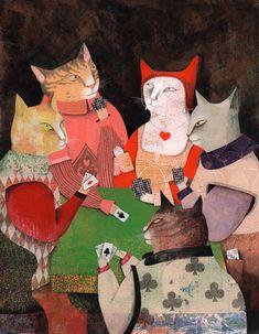 Rion, Animal 2, Illustrations, Cats, Painting, Gatos, Illustration, Painting Art, Paintings