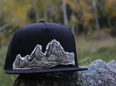 Fitz Roy Embroidered Mountain Hat Handmade Hat Fitz Roy