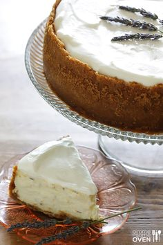 Lavender Cheesecake | gimmesomeoven.com