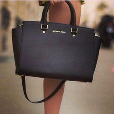 MK Selma Bag Black Michael Kors Selma bag. Saffiano leather. Comes with long cross body strap. Worn for one season. Michael Kors Bags