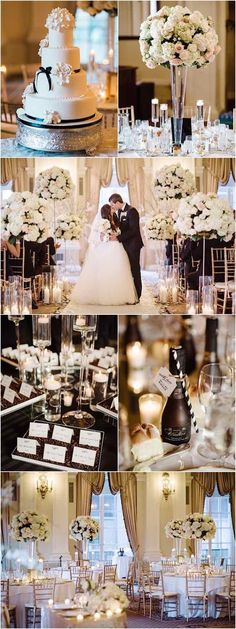 photo: Brian Hatton; Classic ballroom wedding reception;