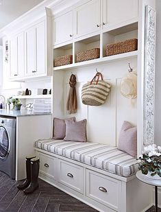 Awesome 90 Awesome Laundry Room Design and Organization Ideas Small laundry room ideas Laundry room decor Laundry room storage Laundry room shelves Small laundry room makeover Laundry closet ideas And Dryer Store Toilet Saving Mudroom Laundry Room, Laundry Room Design, Mudrooms With Laundry, Laundry Baskets, Bathroom Laundry, Laundry Area, Laundry In Kitchen, Mudroom Cubbies, Laundry Room Remodel