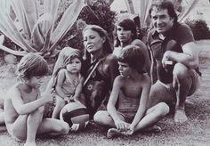 Franca Bettoja Ugo Tognazzi con i figli