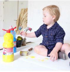 Activité peinture pour enfants avec notre gouache GIOTTO !