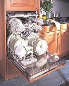 his up-scale dishwasher is designed to be installed at a height that is easier on the back. Kitchen Remodels in Lincoln, Nebraska: Elevated Dishwasher Kitchen Organization Pantry, Kitchen Pantry, New Kitchen, Kitchen Dining, Kitchen Ideas, Raised Kitchen Island, Kitchen Cabinetry, Kitchen Appliances, Kitchen Upgrades