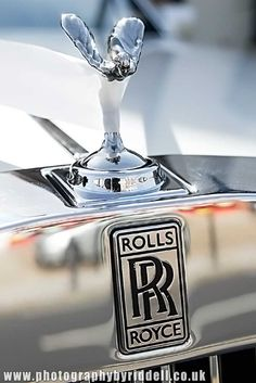 Classic Rolls Royce  Silver lady on a wedding car