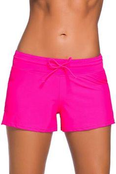 Plus Size SEASUM Womens Side Shirred Swim Shorts Board Short Tankini Bottom Trunks Comfort Quick Dry