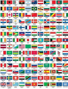flags of the world with names capital
